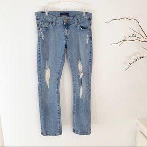 Levi's Tilted 504 Distressed Light Wash Jeans 5